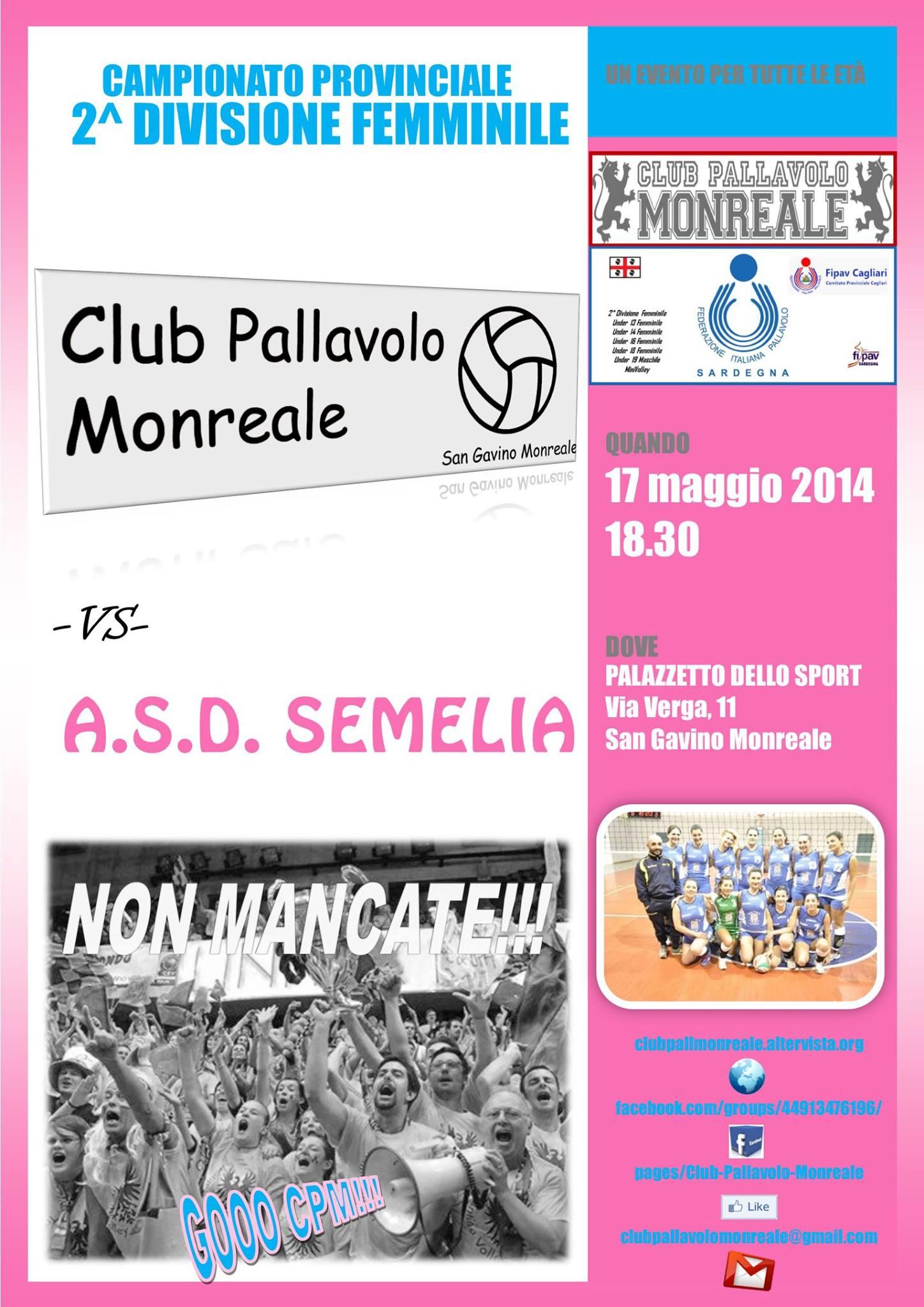 Club Pallavolo Monreale - ASD Semelia