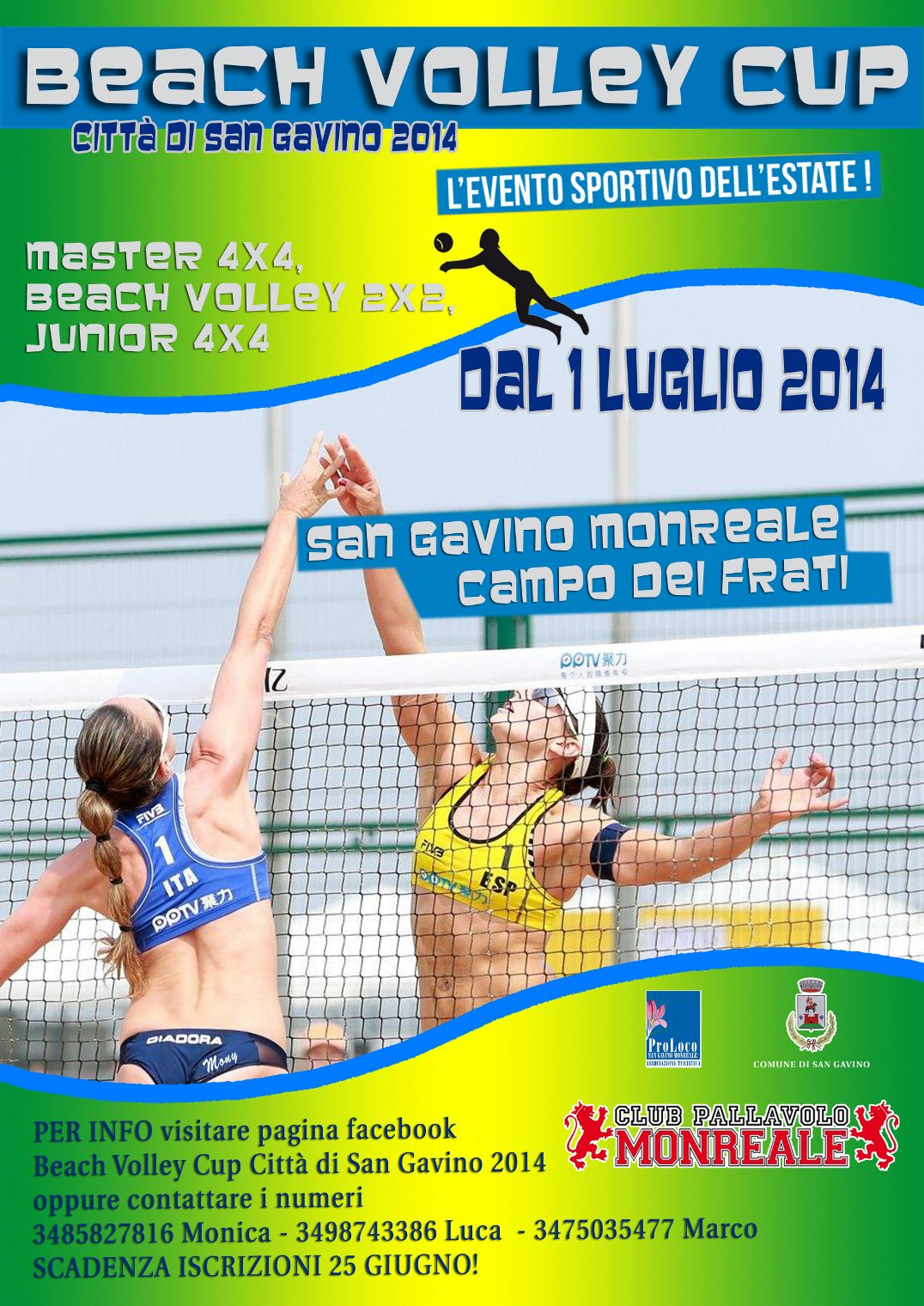 Locandina beach volley cup