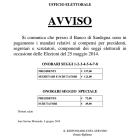 Pagamento mandati compensi elezioni del 25 maggio 2014