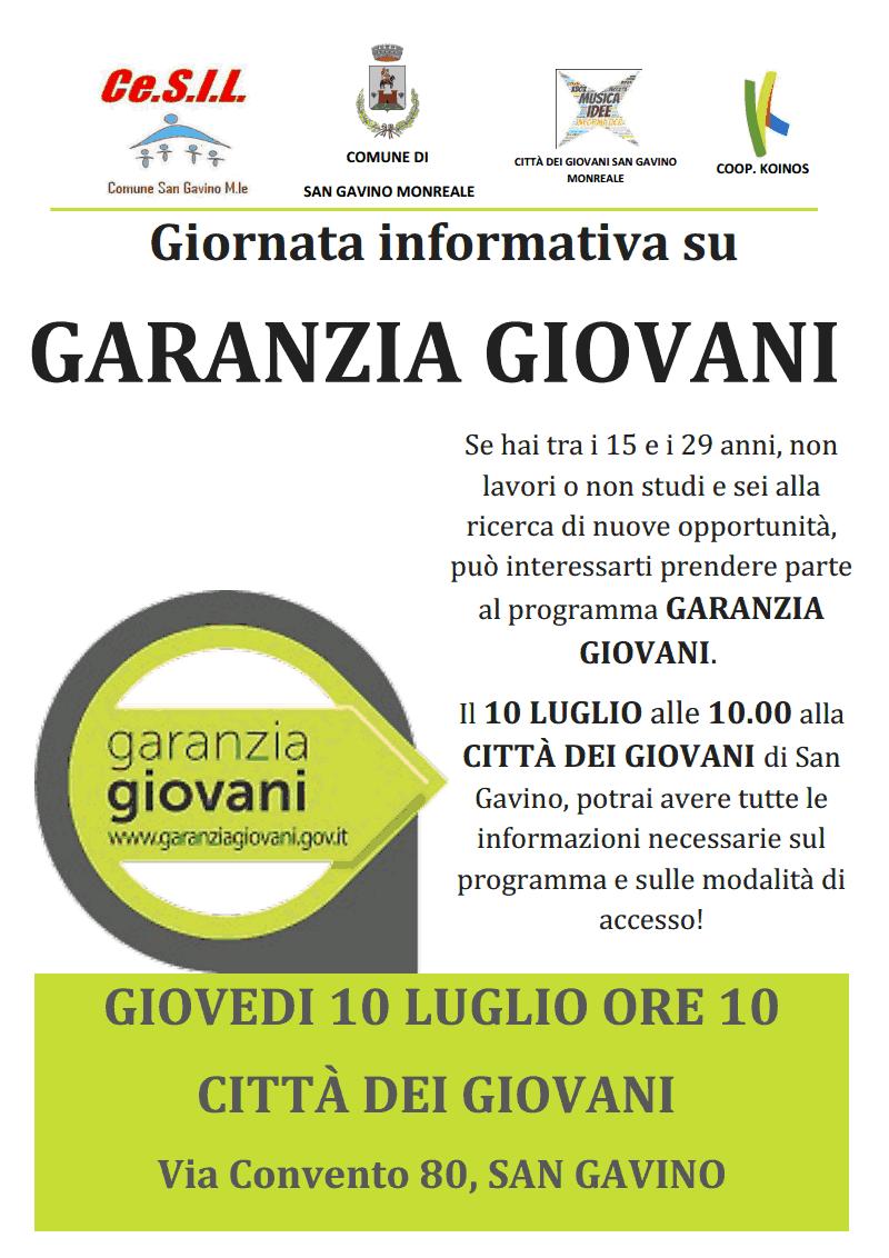 """Il progetto """"Garanzia Giovani"""""""