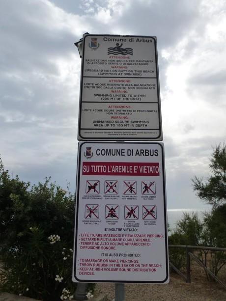 Costa Verde, vietato divertirsi