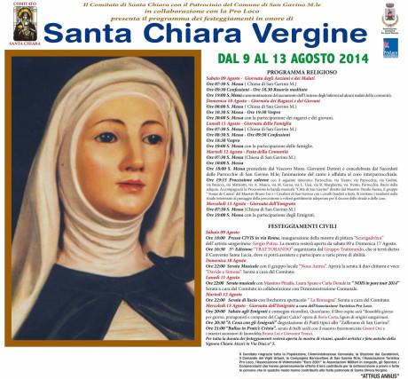 Festa di Santa Chiara 2014