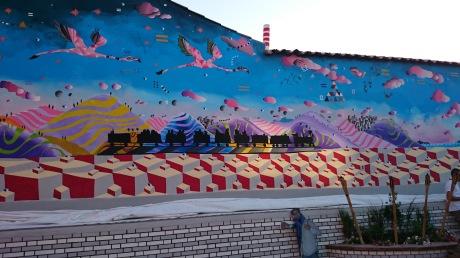 Il murales di San Gavino Monreale tra i 10 più belli della Sardegna