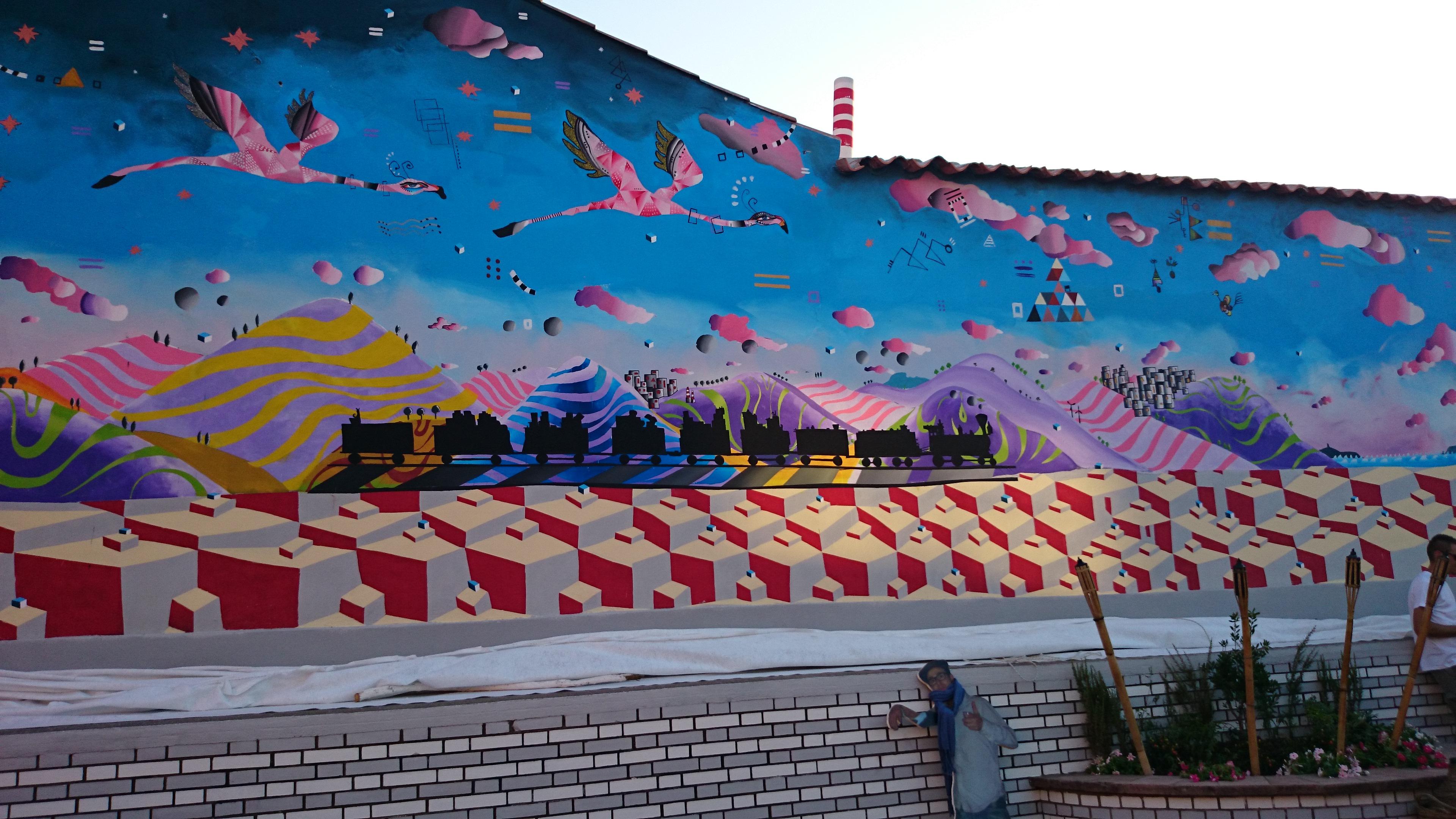 I Piu Bei Murales.Il Murales Di San Gavino Monreale Tra I 10 Piu Belli Della Sardegna