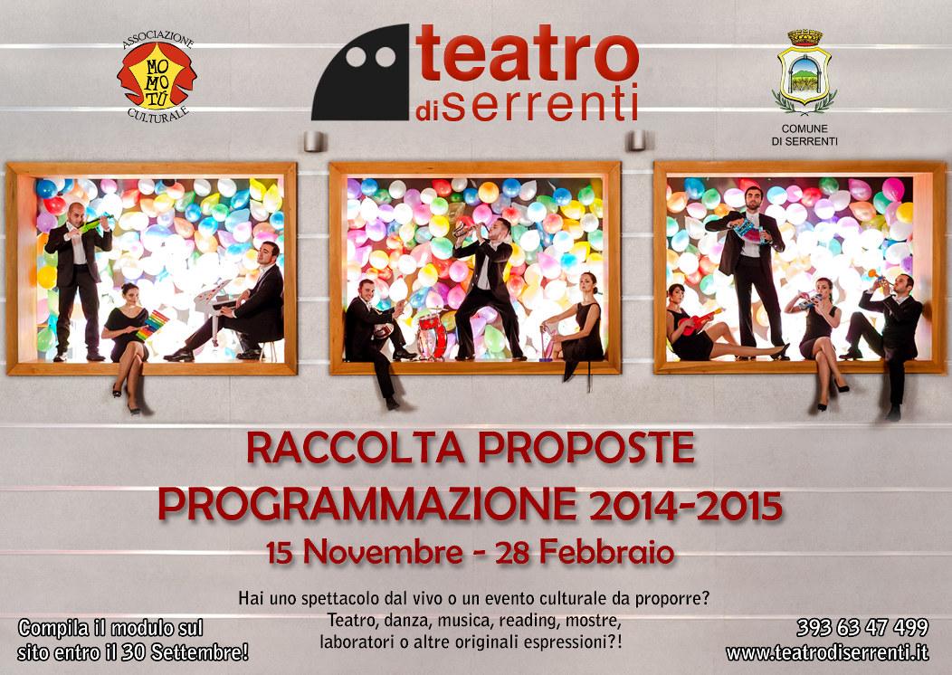 Raccolta proposte al Teatro di Serrenti