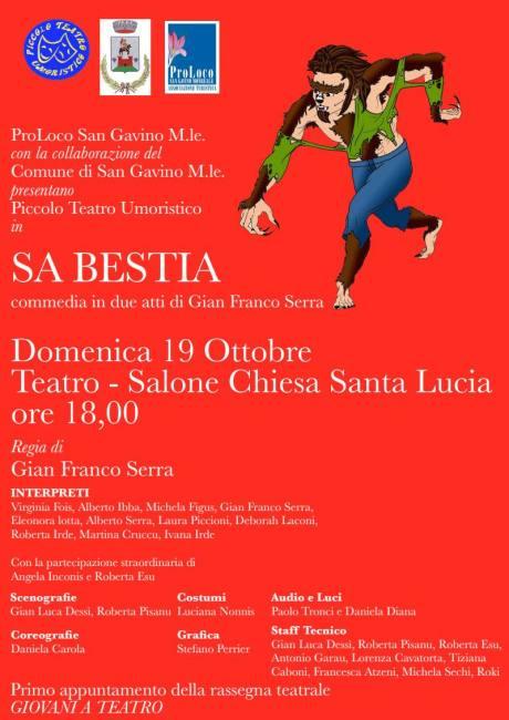 "Il PTU presenta ""Sa Bestia"""