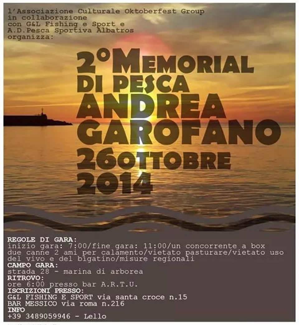 "2° Memorial di pesca ""Andrea Garofano"""