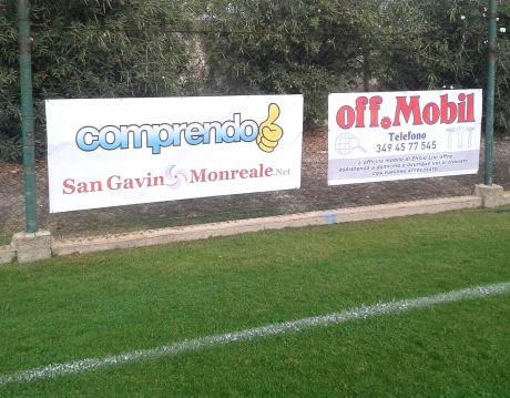 San Gavino Monreale . Net sostiene la Monreale Calcio