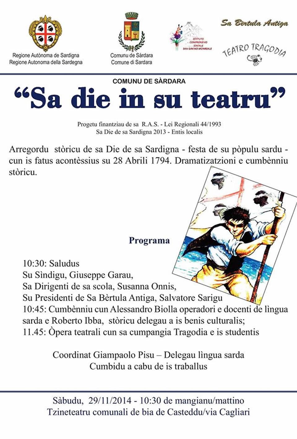 """Sa Die in su teatru"" in lingua sarda"