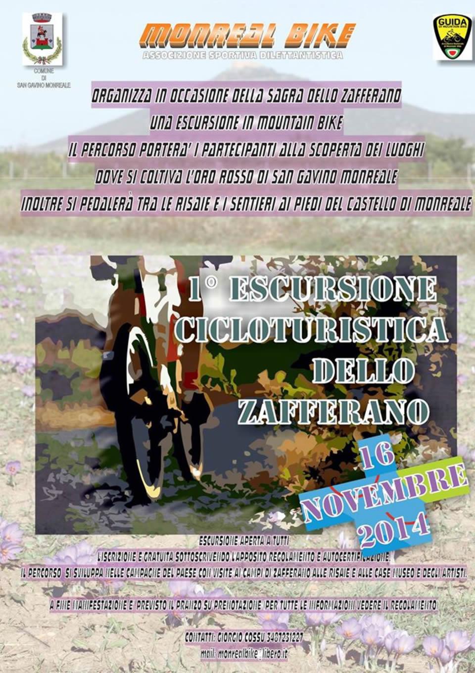 1° escursione cicloturistica dello zafferano
