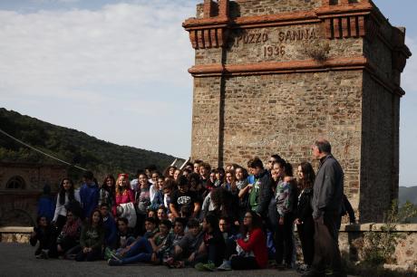 I minatori incontrano gli studenti a Montevecchio