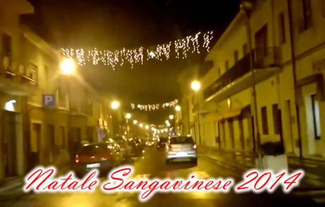 Giro serale con le luminarie natalizie accese
