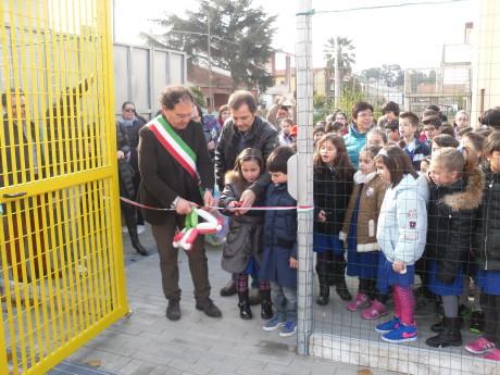 Inaugurazione del campo sportivo di via Fermi