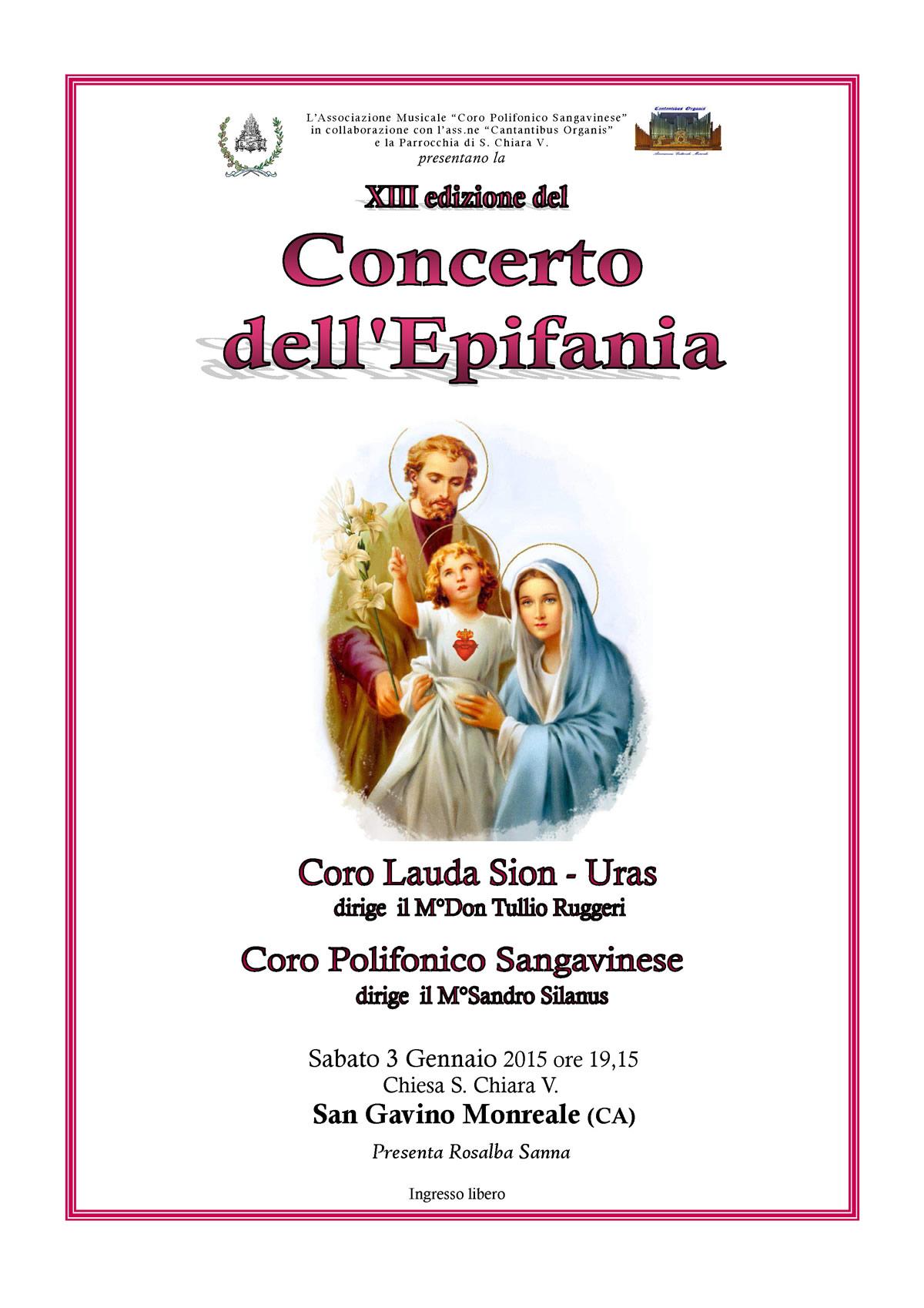 XIII edizione del Concerto dell'Epifania