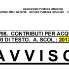 Pagamento mandati per contributi libri di testo 2013/14