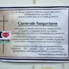 Manifesti funebri per il Carnevale