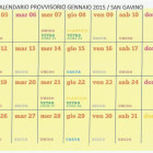 Calendario provvisorio raccolta dei rifiuti