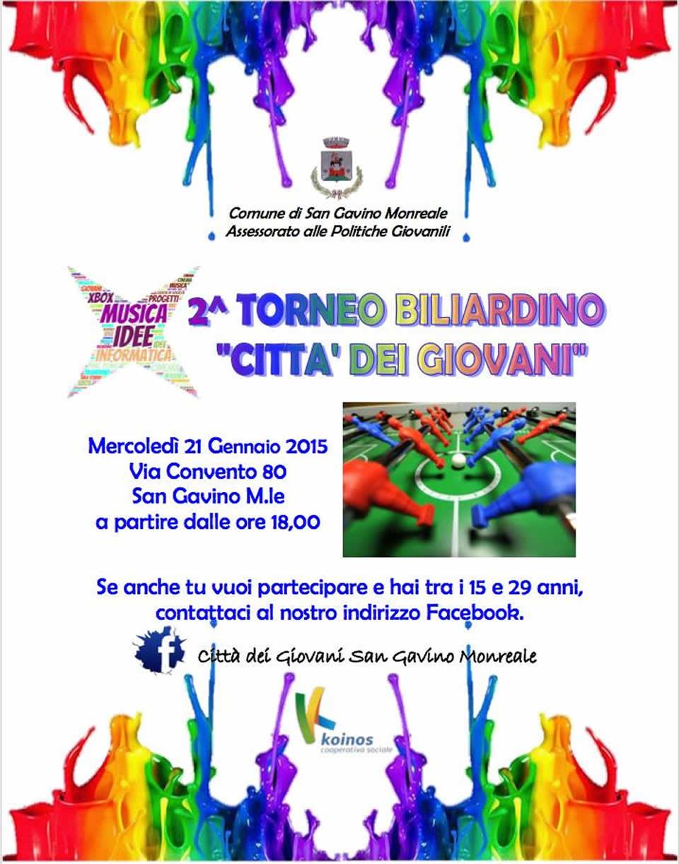 2° torneo di biliardino alla Città dei Giovani