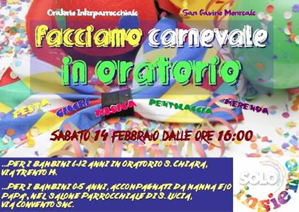 Facciamo Carnevale in Oratorio