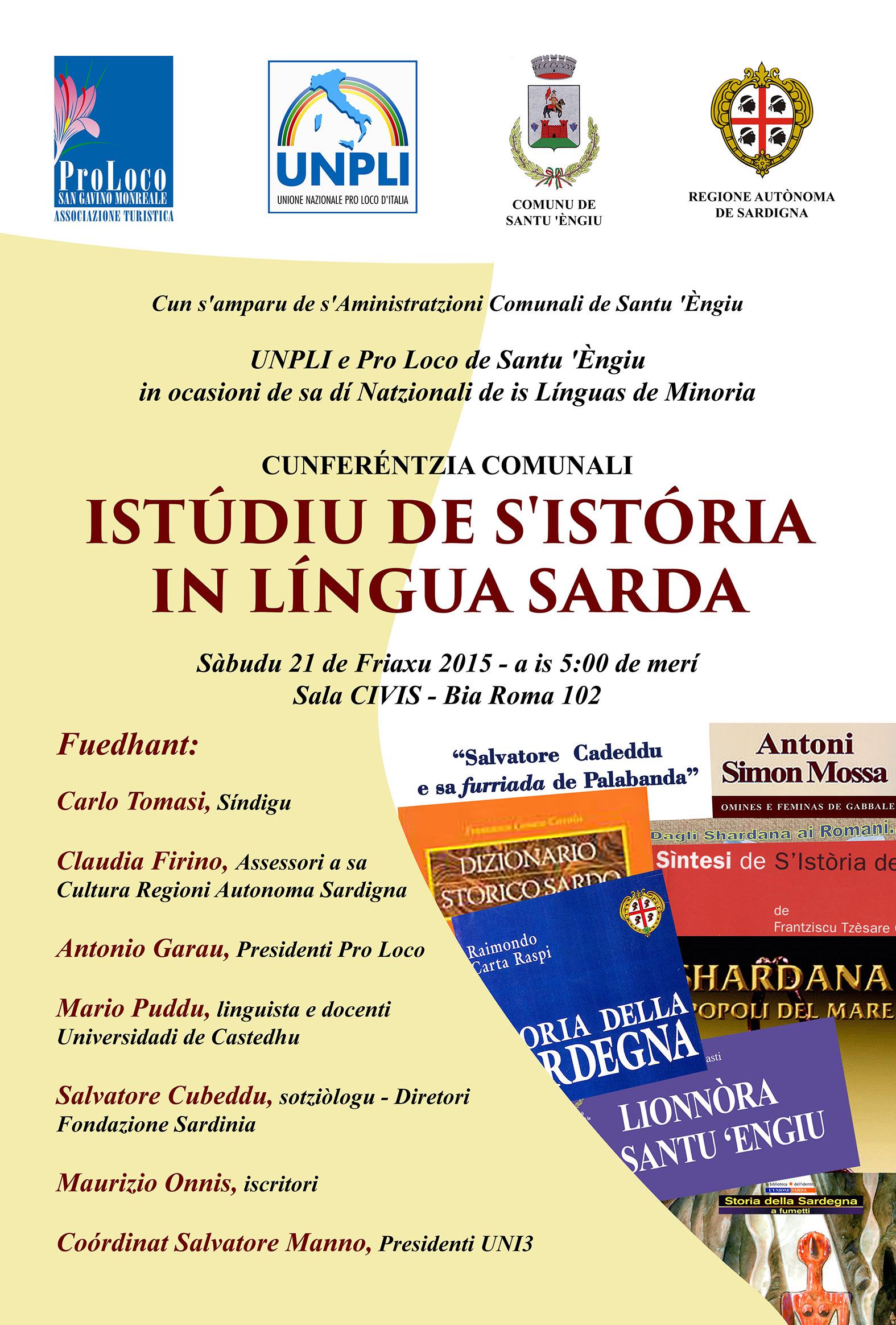 Istudiu de s'istoria in lingua sarda