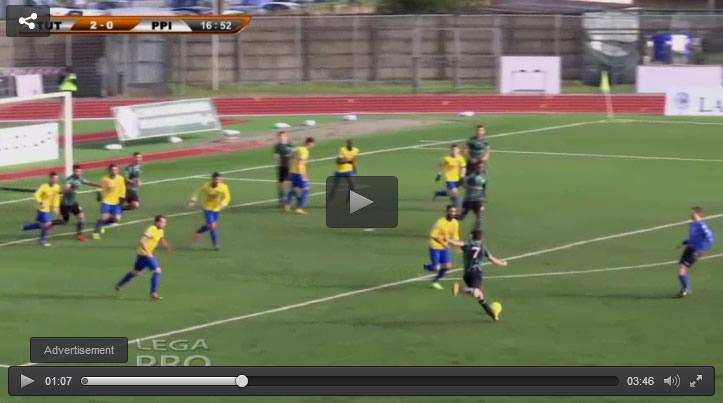 Splendido gol di Deiola contro il Pro Piacenza