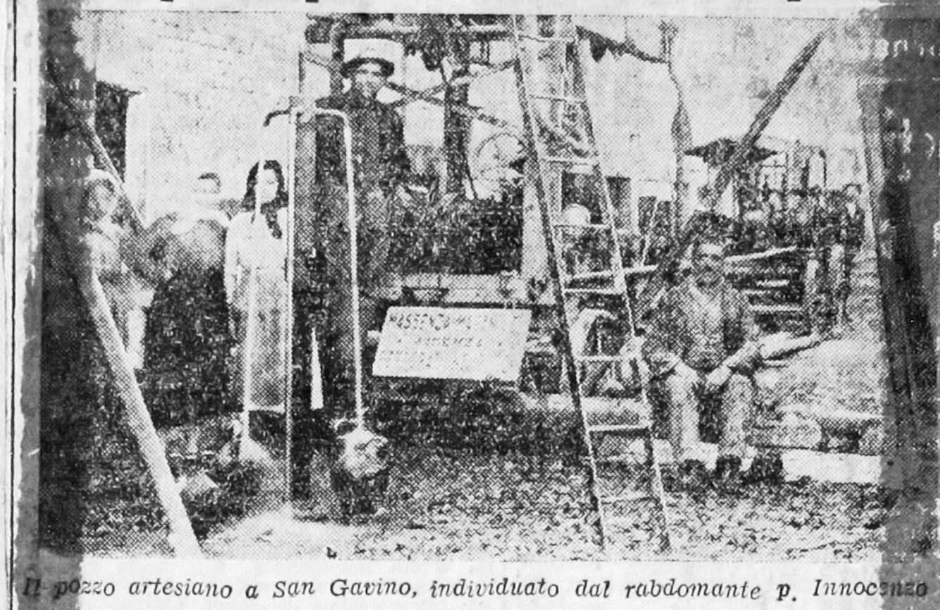 La storia dell'acqua di San Gavino Monreale dal 1896 fino ai giorni nostri