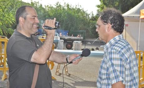 Il sindaco Carlo Tomasi in occasione dell'ultima edizione del Sangamotorbike 2014 ai microfoni di Videolina