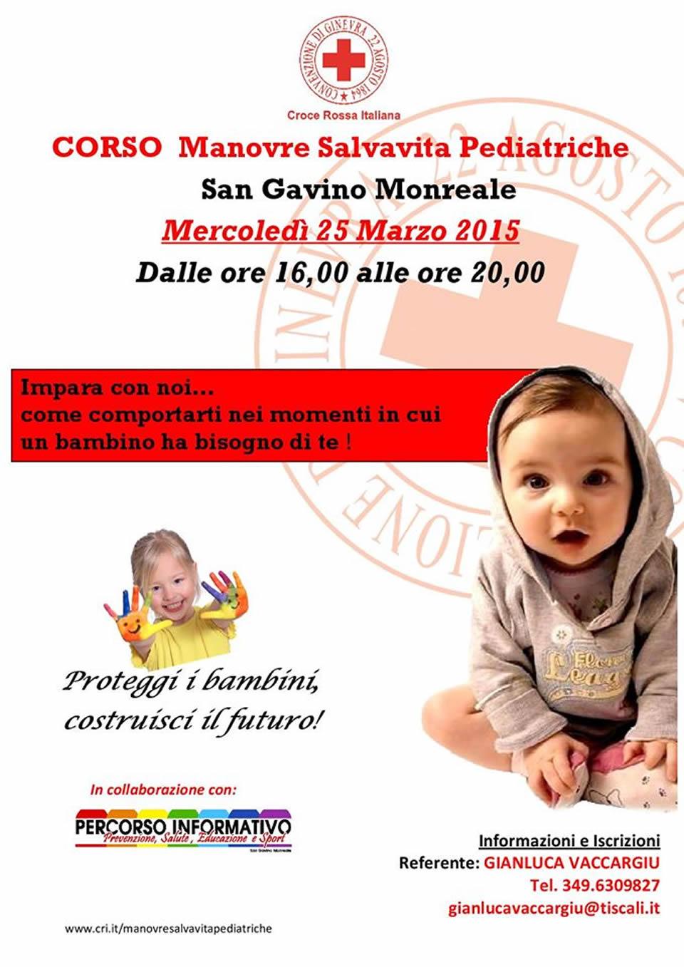 3° Corso di Manovre Salvavita Pediatriche