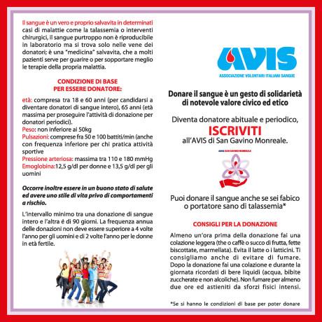 Una brochure con i consigli dell'AVIS