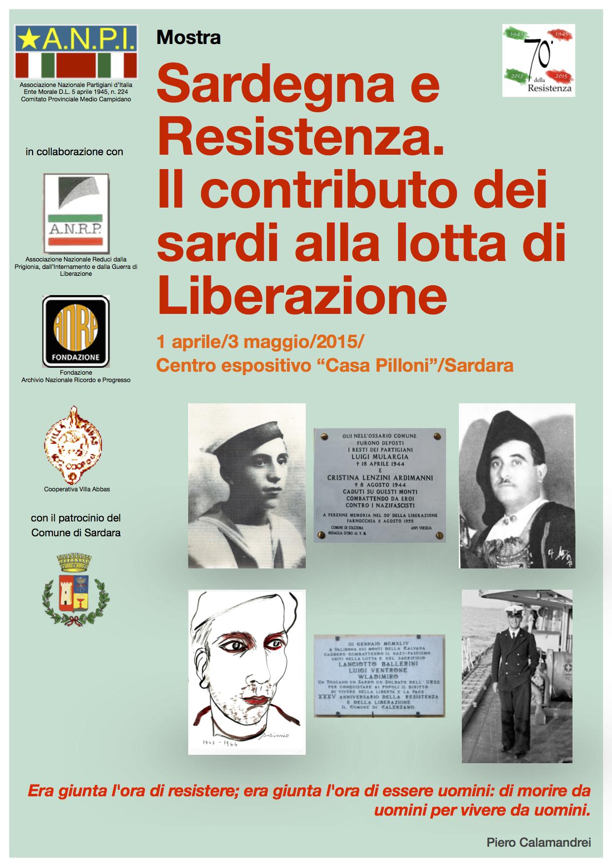 """Mostra """"Sardegna e Resistenza, il contributo dei sardi alla lotta di Liberazione"""""""