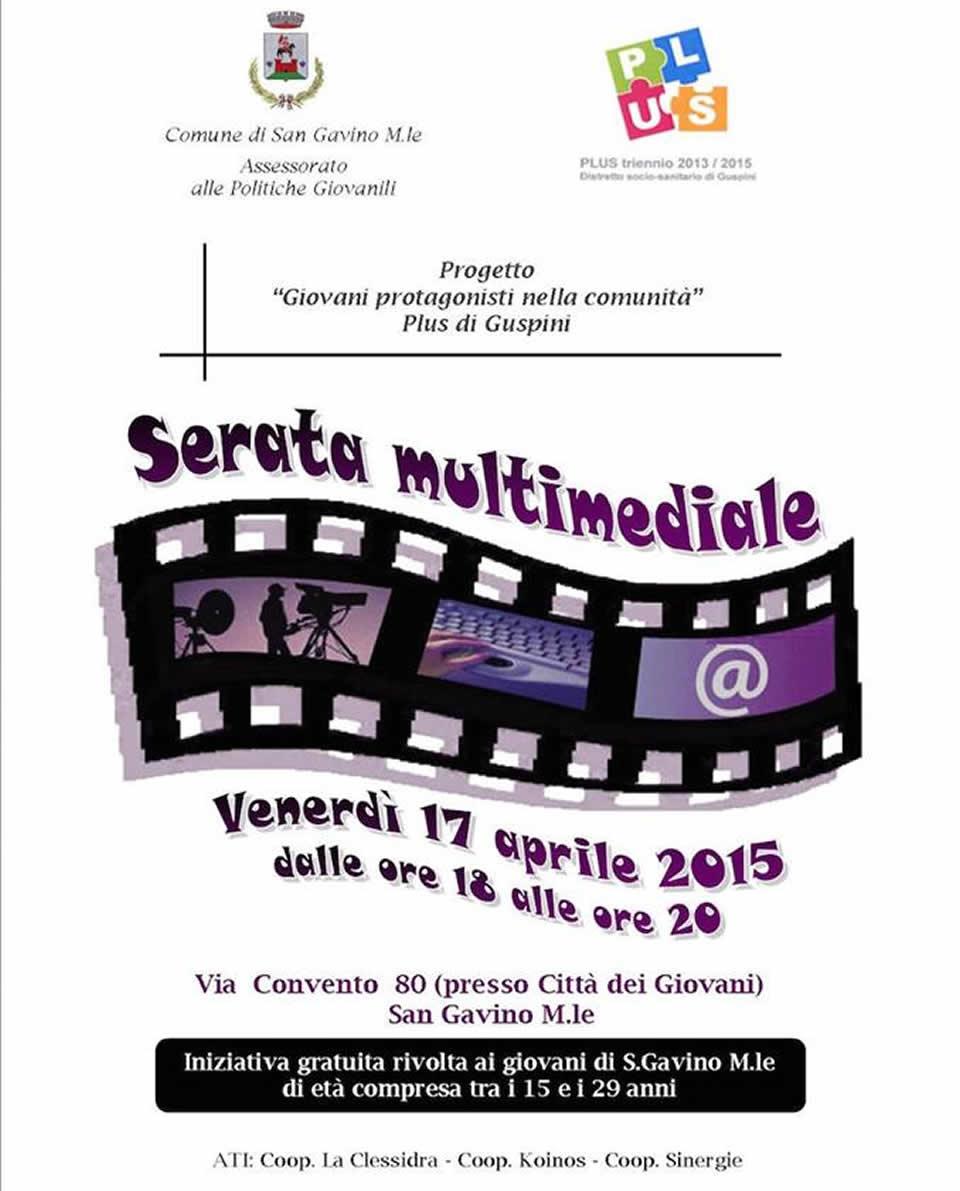 Serata multimediale alla Città dei Giovani