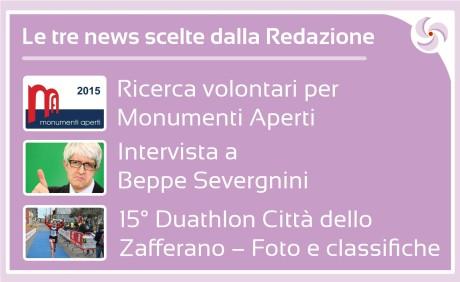 Le tre news scelte dalla Redazione