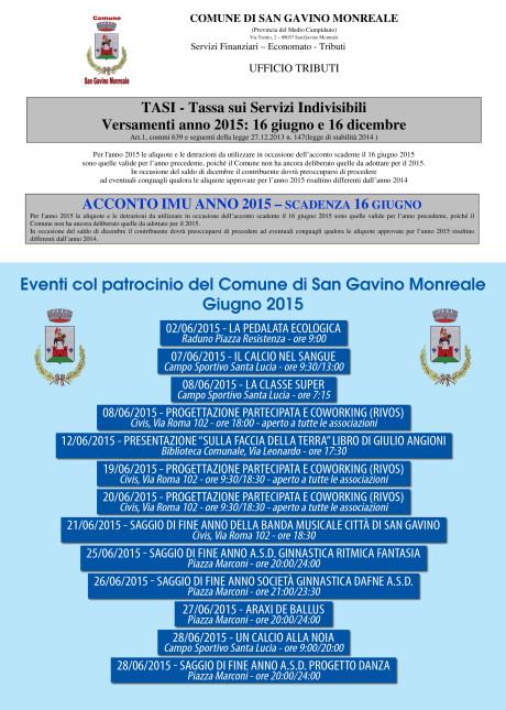 Comune di San Gavino Monreale: scadenze ed eventi