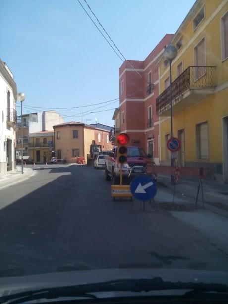 Si rivede un semaforo a San Gavino