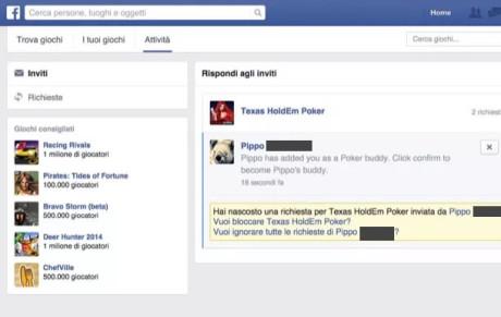Facebook e giochi