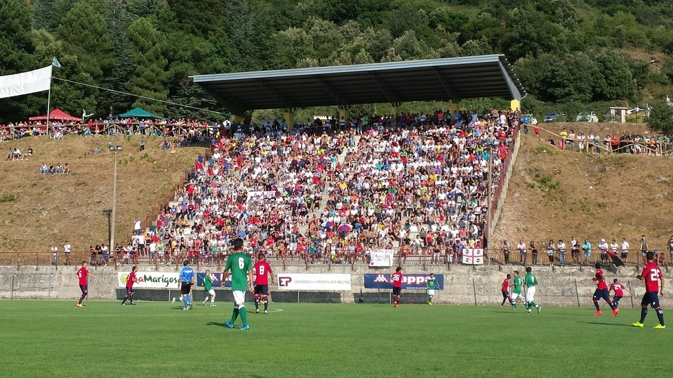 Il Cagliari in campo ad Aritzo