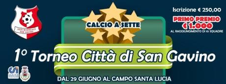 """1° Torneo di Calcio a 7 """"Città di San Gavino"""""""