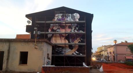 Il murale di Giorgio Casu