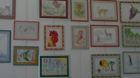 Esposizione pittorica permanente in piazza Giovanni XXIII, aula laboratorio