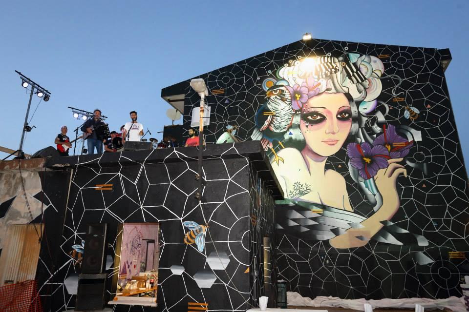 Il murale di Eleonora d'Arborea