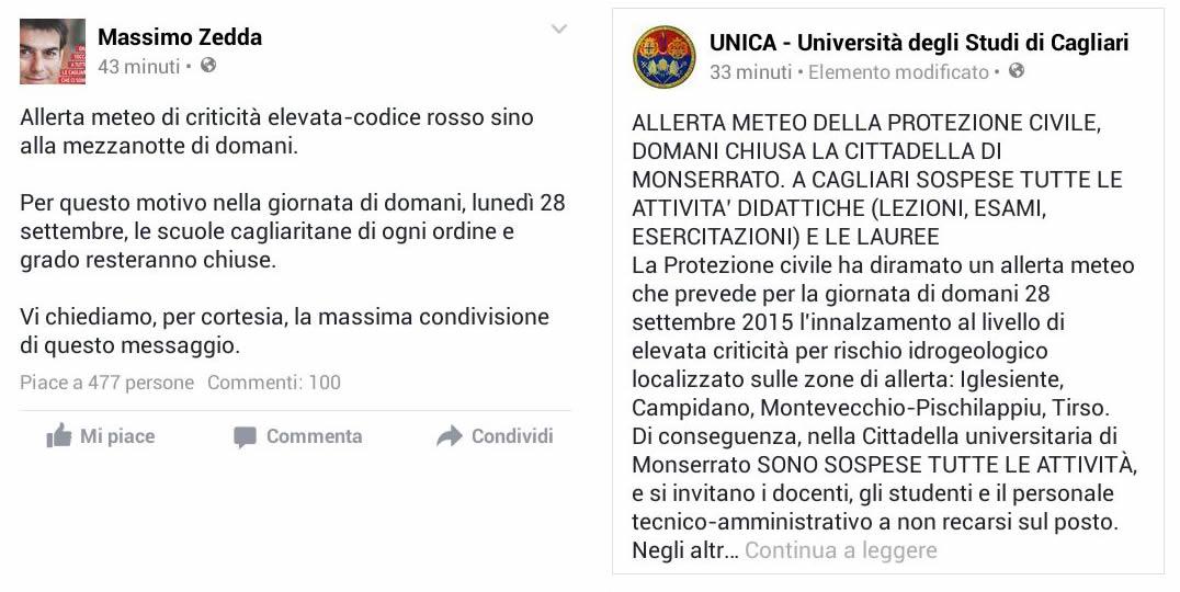Pendolari e allerta meteo, chiuse le scuole di Cagliari