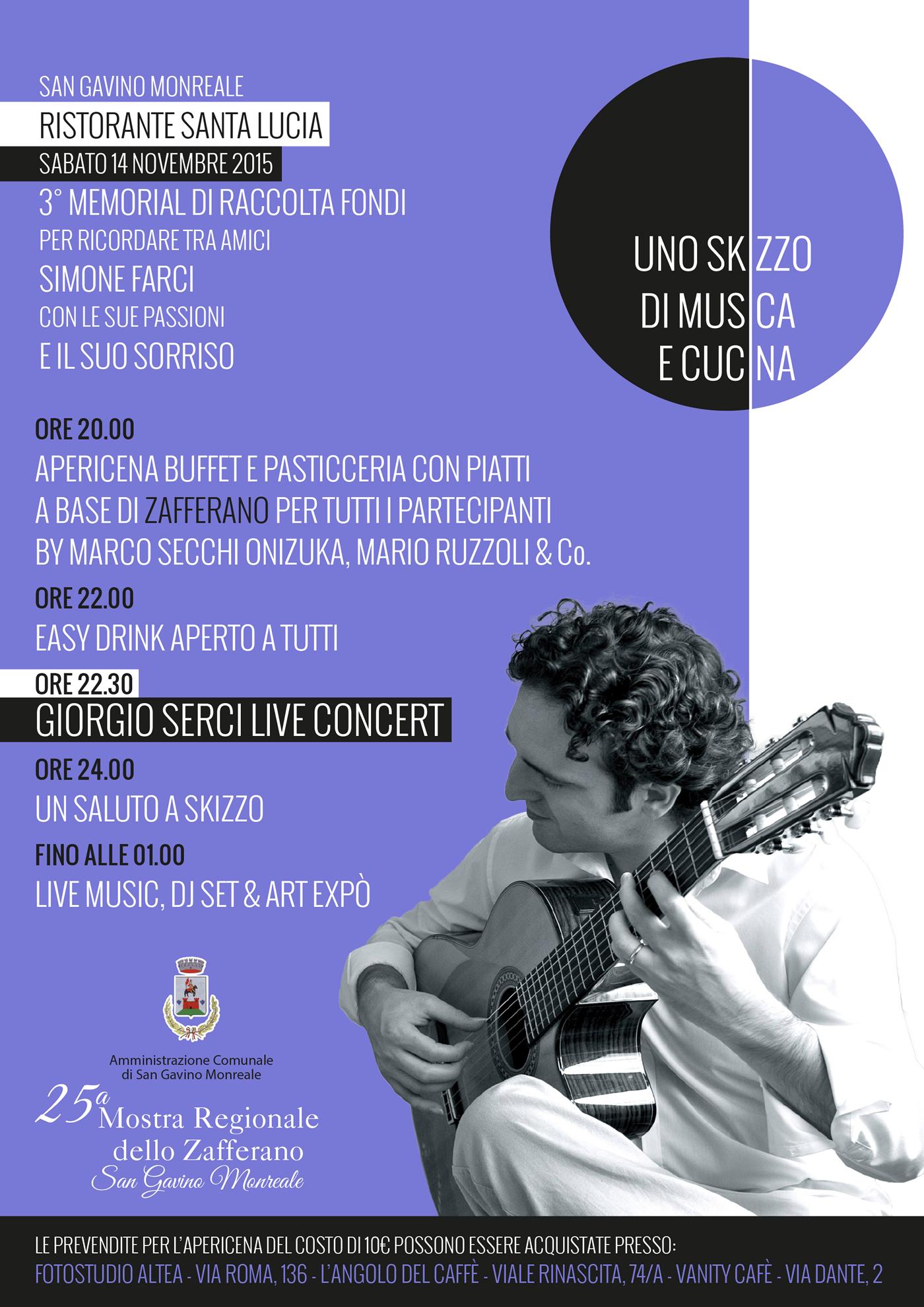 """3° memorial """"Uno Skizzo di musica e cucina"""""""