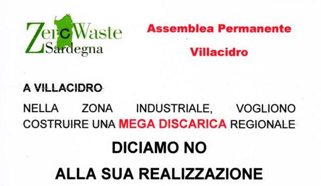 Assemblea pubblica contro la mega discarica a Villacidro