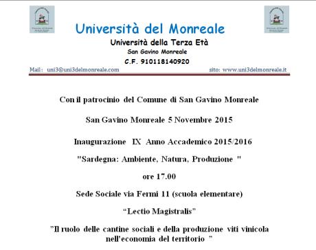 Inaugurazione IX Anno Accademico dell'Università della Terza Età