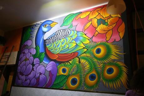 Un murale al Bar Giardini