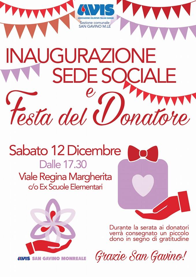 Festa del Donatore e inaugurazione sede AVIS