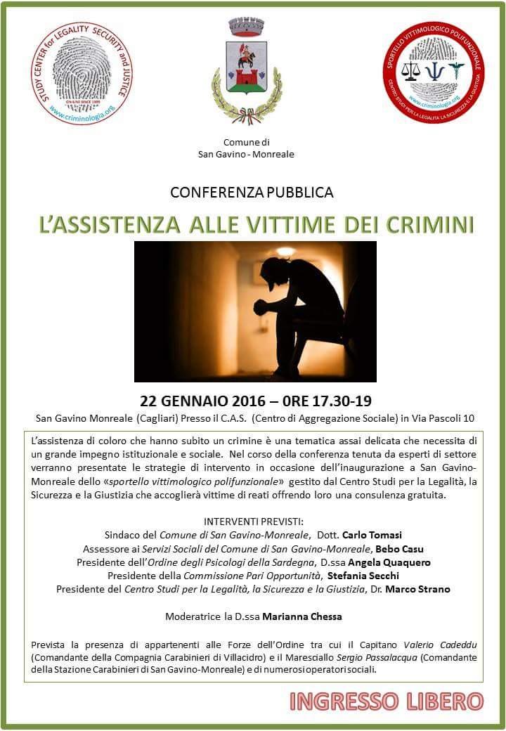 L'assistenza alle vittime dei crimini