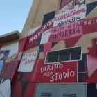 Il murale in Piazza della Resistenza