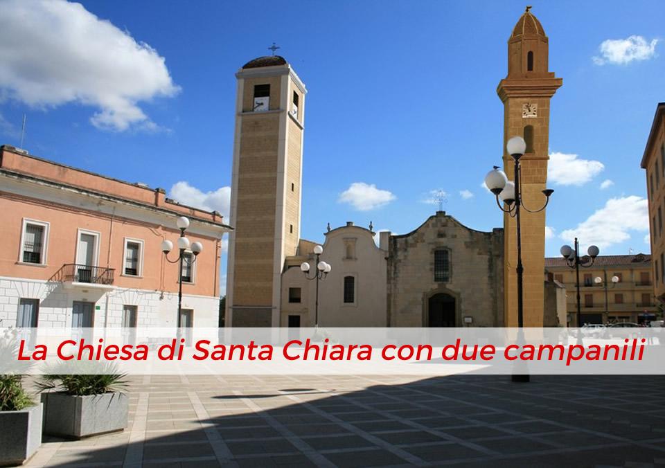 La Chiesa di Santa Chiara con due campanili