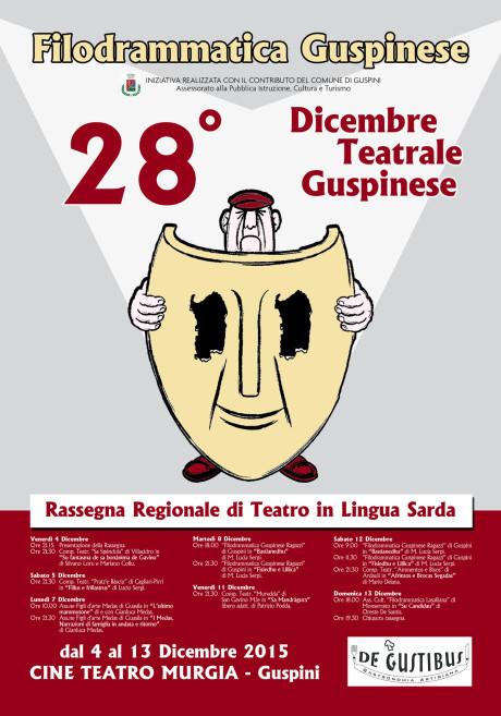 Il programma del Dicembre Teatrale Guspinese